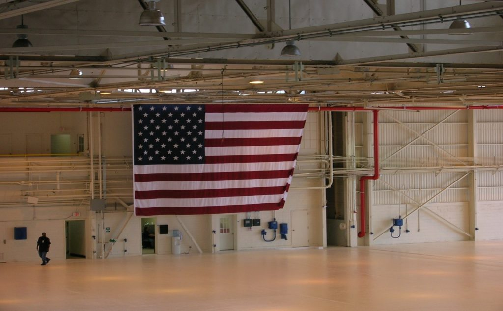 VT-25 Hangar Bay US Flag